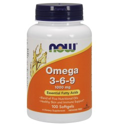 Omega 3-6-9 - 100 gélules - NOW FOODS