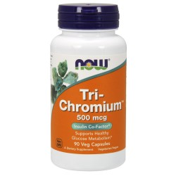 Tri-chromium 500 mcg - 90 gélules - NOW FOODS